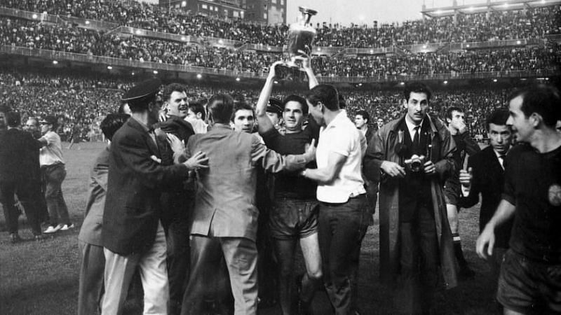 Spain claimed their first international trophy at Euro 1964
