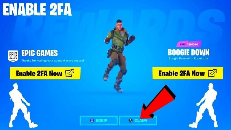 How To Enable 2fa Authentication In Fortnite Unlock Free Boogie Down Emote
