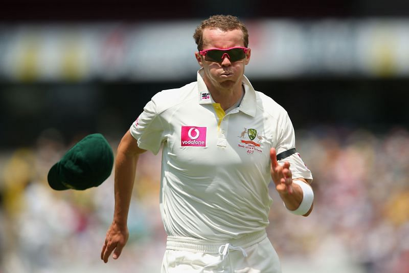 Peter Siddle picked up a hat-trick against England on his 26th birthday.