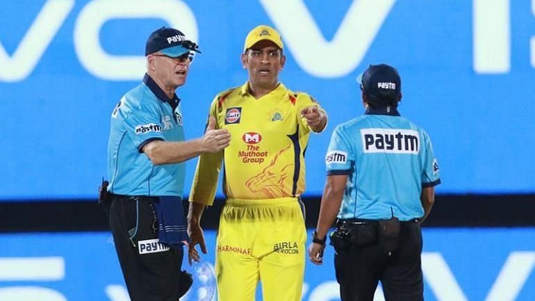 Dhoni stormed out to the middle