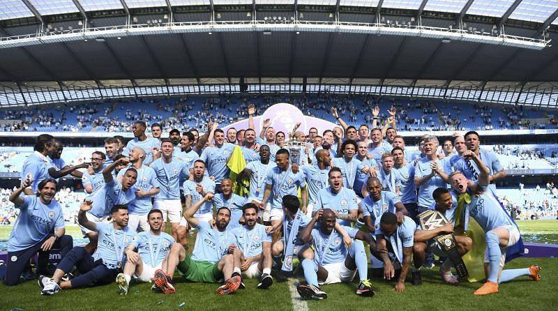 Manchester City garnered 100 points in 2018
