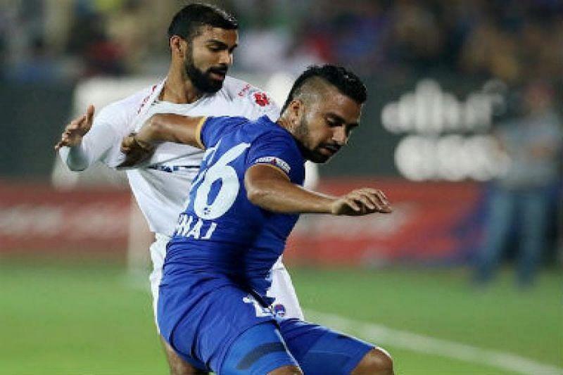 Sehnaj Singh in action for Mumbai City FC in ISL