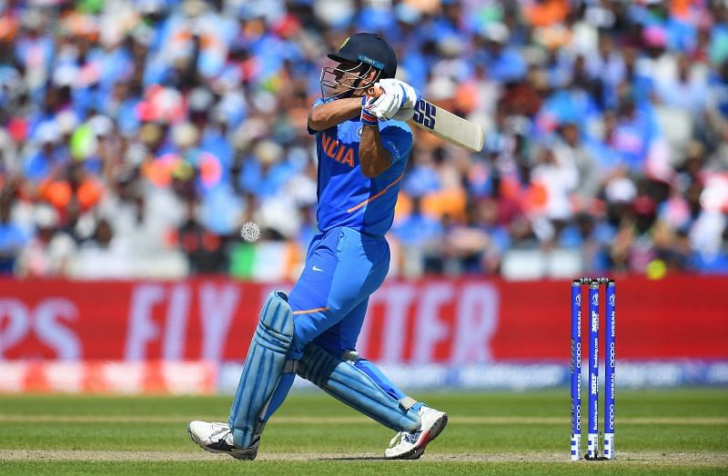 MS Dhoni in action against the West-Indies in 2019