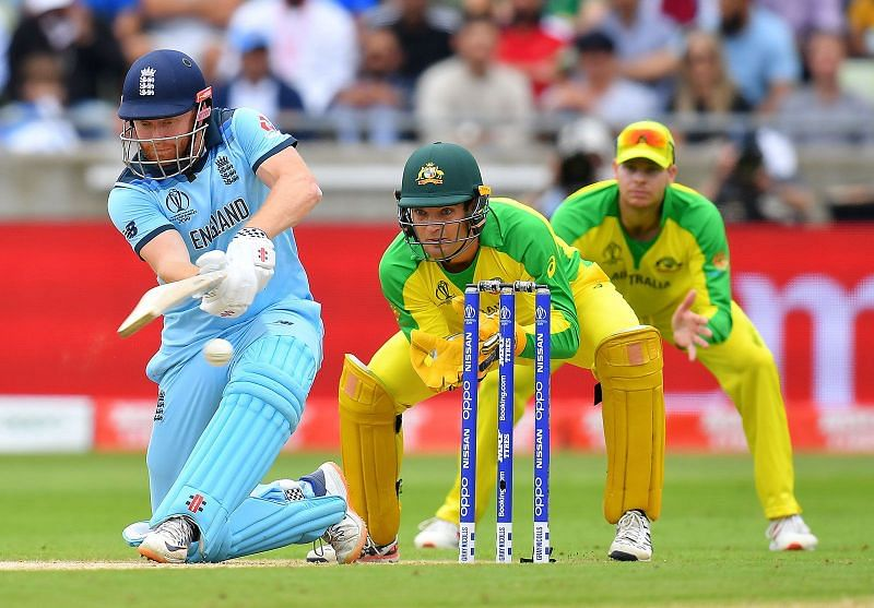 An ODI game between England and Australia