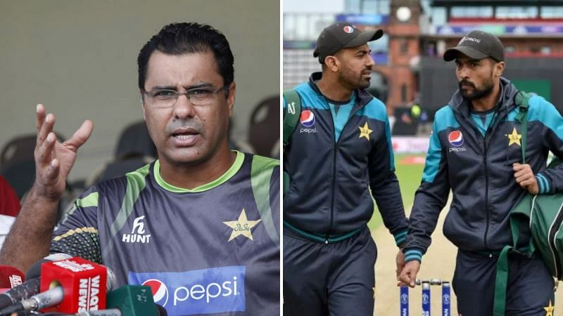 Waqar Younis (L) has lashed out at the Pakistan pace duo