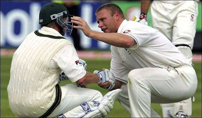 Andrew Flintoff and Brett Lee were involved in this classic Ashes moment.