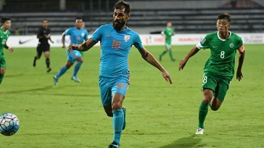 Balwant Singh in action for Indian national team