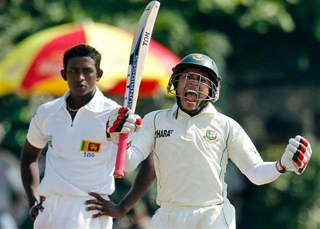 Mushfiqur Rahim celebrates his double century