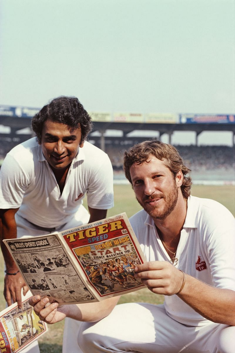 Sunil Gavaskar (left) is seen with Ian Botham here
