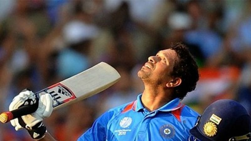 Sachin Tendulkar scored a century on his birthday.