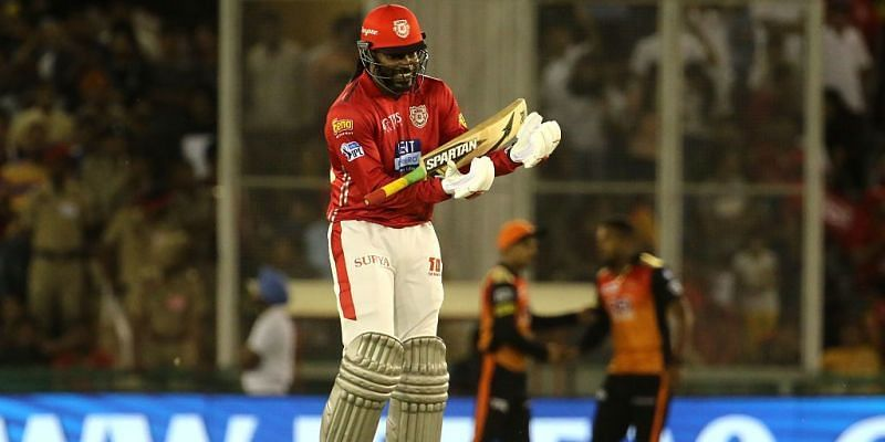 Chris Gayle continued his love affair with the IPL while playing for KXIP