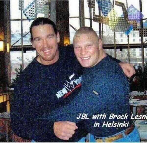 Brock Lesnar and JBL