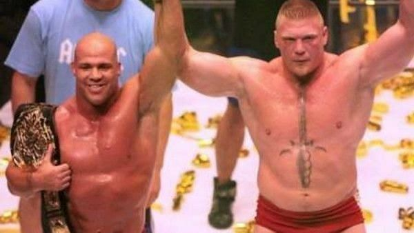 Lesnar and Angle in IGF