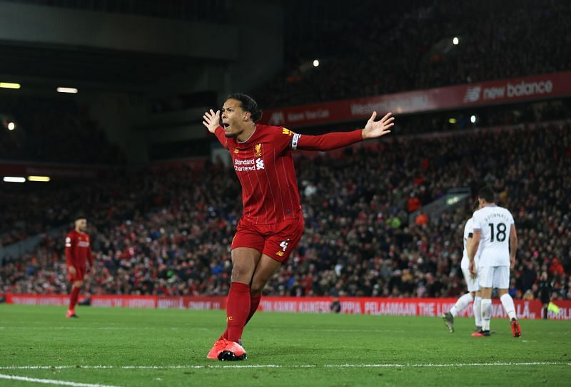 Virigl van Dijk during a Premier League game this season