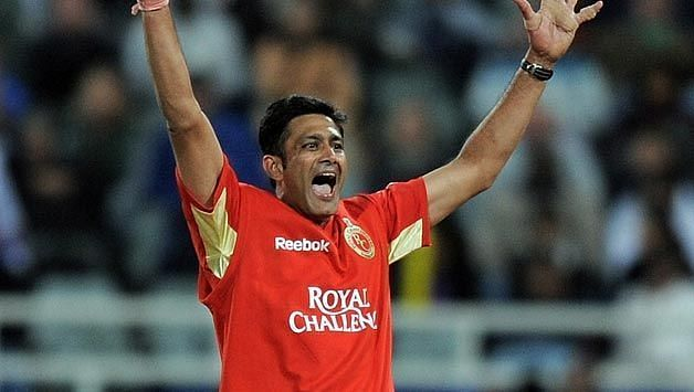 Anil Kumble bamboozled the Rajasthan Royals' lower order.