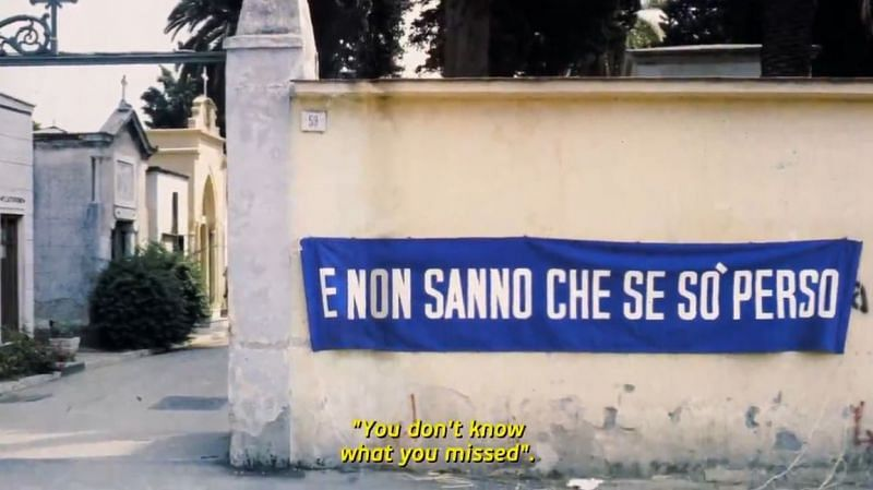 """On the local cemetery wall after the first-ever Scudetto: """"You don"""