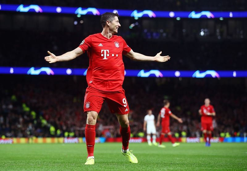 Robert Lewandowski during a Champions League game against Tottenham Hotspur