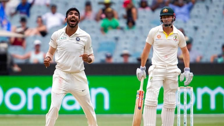 Jasprit Bumrah got Shaun Marsh LBW with the last ball before stumps.