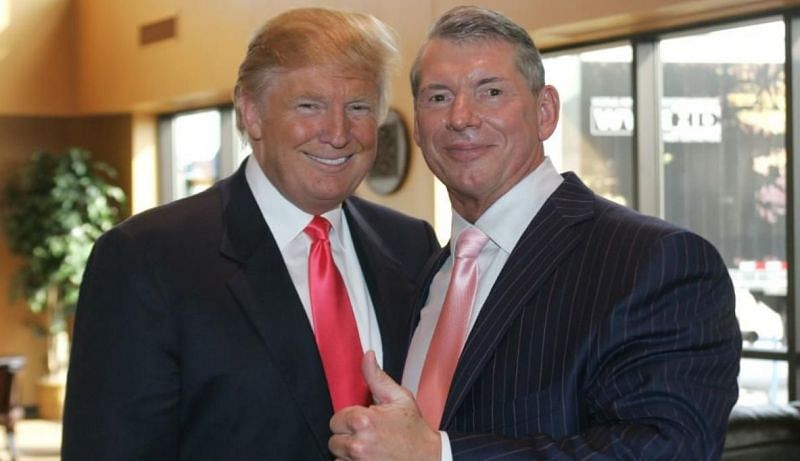 United States President Donald Trump and WWE Chairman Vince McMahon
