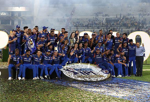 मुंबई इंडियंस 2013,15,17 और 19 में चार बार चैंपियन बनी है