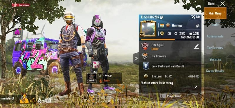 My PUBG mobile ID and rank