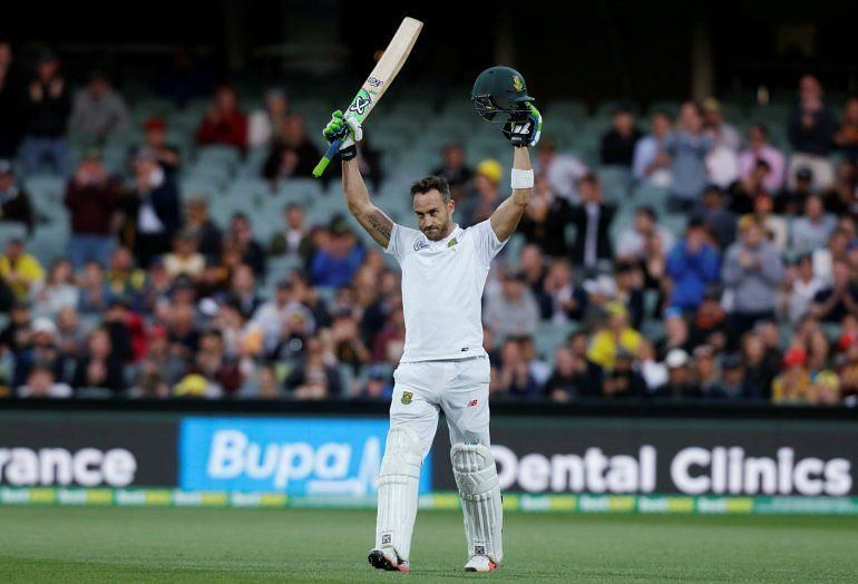 Faf Du Plessis declared the South African innings at 259/9 against Australia.