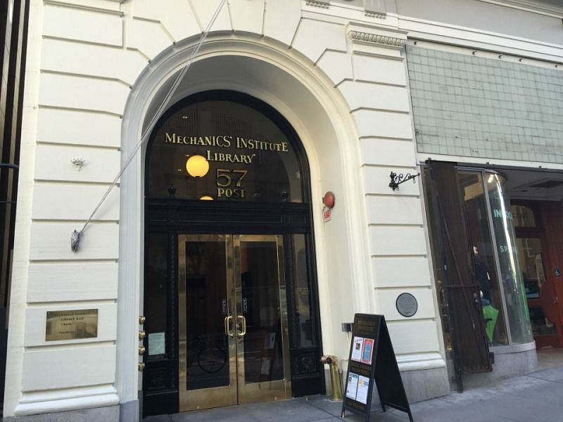 The entrance to the historic Mechanics Institute! Credits- Hoodline