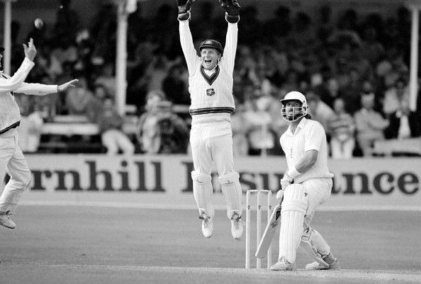 Ian Healyseenappealing for Ian Botham's wicket