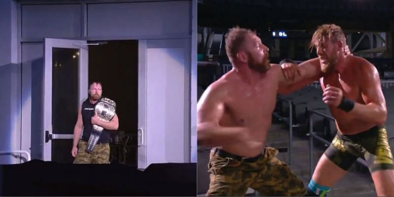 Jon Moxley and Jake Hager clashed in an Empty Arena Match!