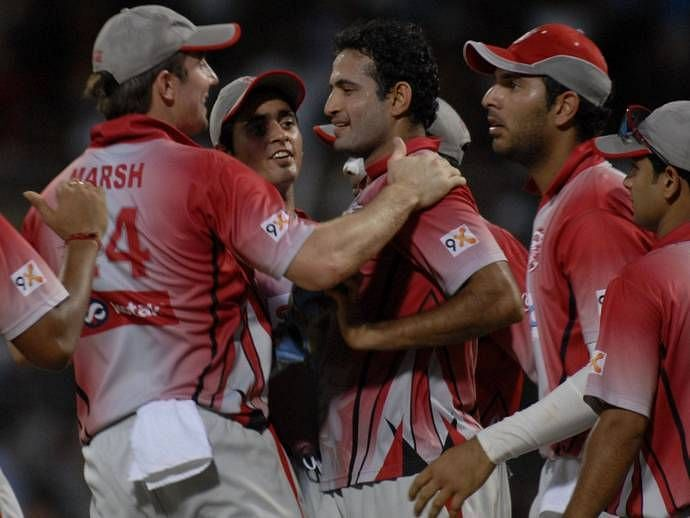 Irfan Pathan (centre) has been the most successful all-rounder for KXIP.