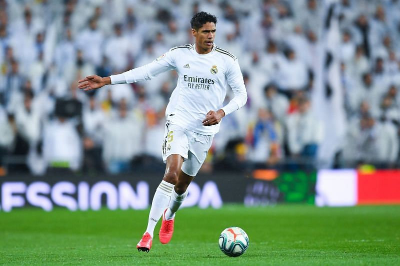 Raphael Varane during a La Liga game against Barceola
