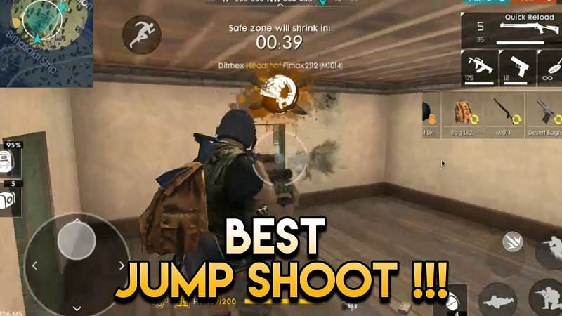 Use the jump-shoot at the right time.