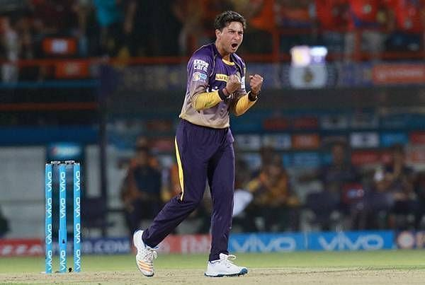 Kuldeep Yadav would lend variety to the KKR attack in their all-time XI.