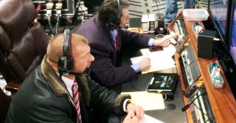 Triple H and Vince McMahon.