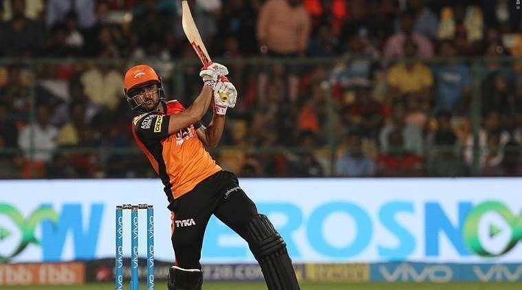 Manish Pandey has been the best Indian middle-order batsman for SRH