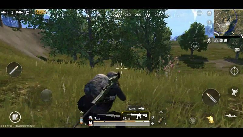 PUBG Mobile Position, picture credits: YouTube