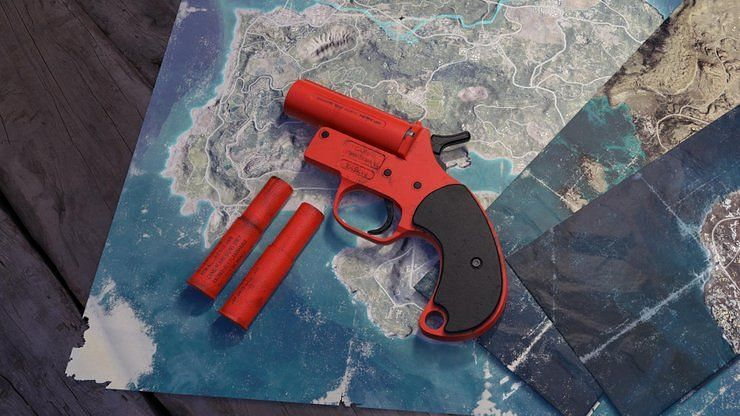 Flare gun in PUBG Mobile