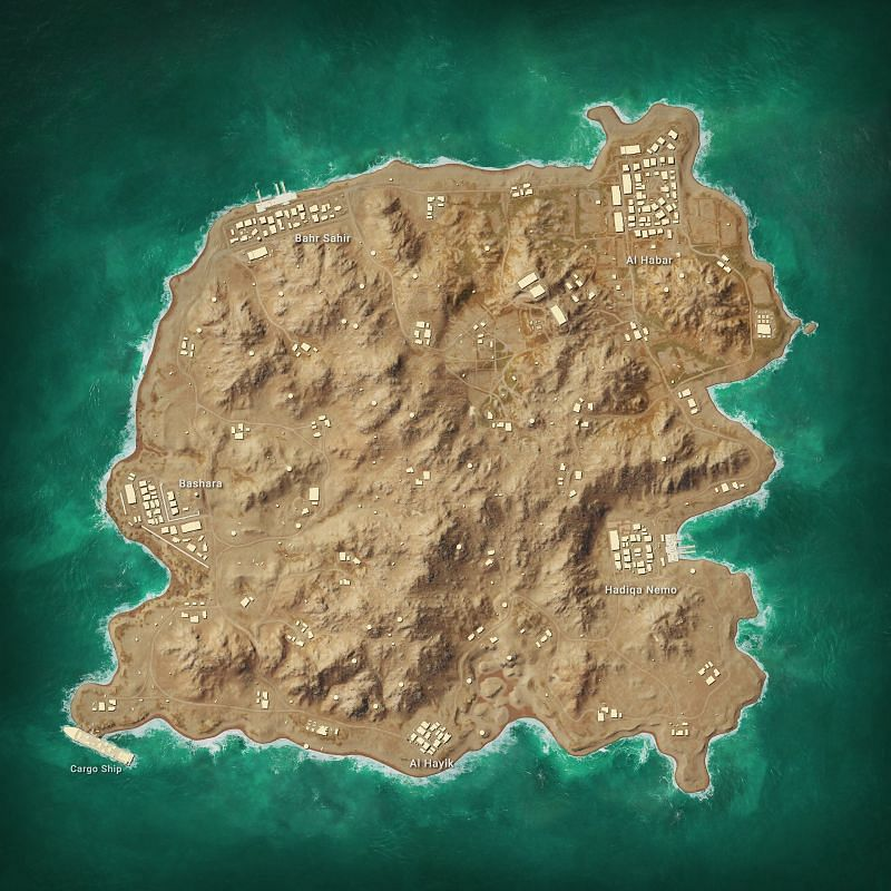 Karakin Map 2x2 KM Pic Courtesy - Pubg.com