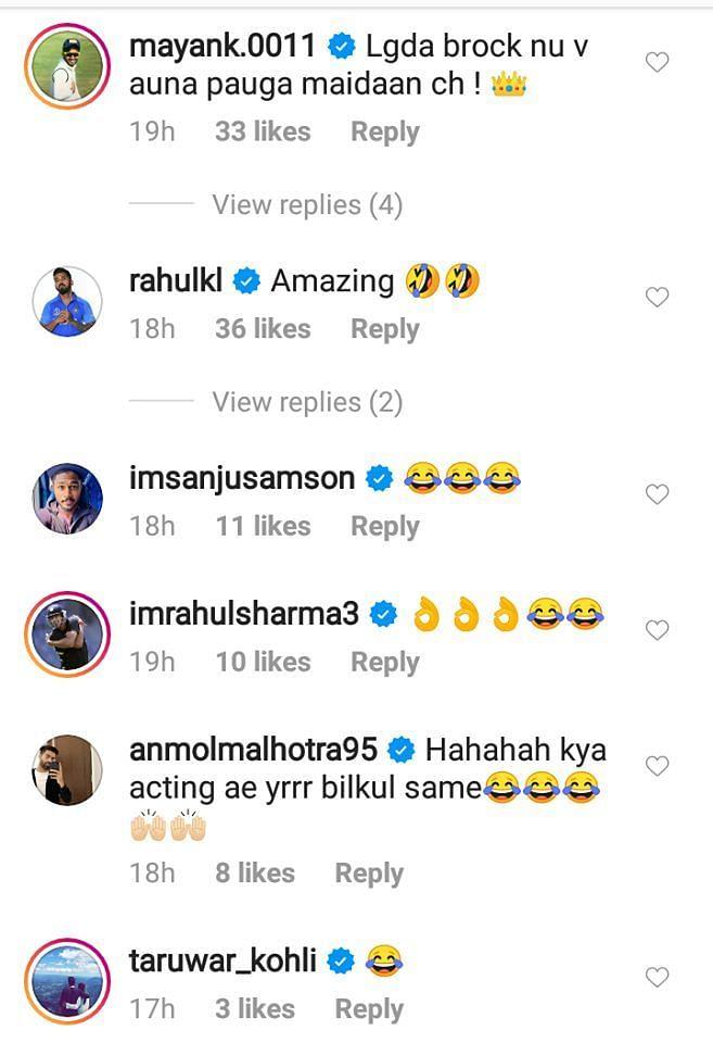 भारतीय खिलाड़ी केएल राहुल ने भी की मंदीप सिंह की तारीफ