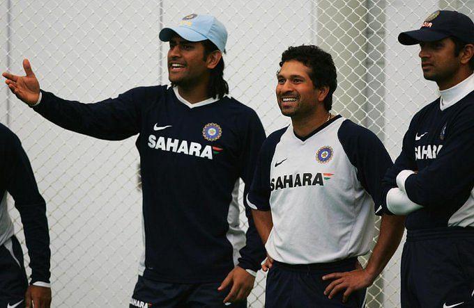 आईसीसी ने सचिन, राहुल द्रविड़ और धोनी की फोटो शेयर की (Photo - ICC)