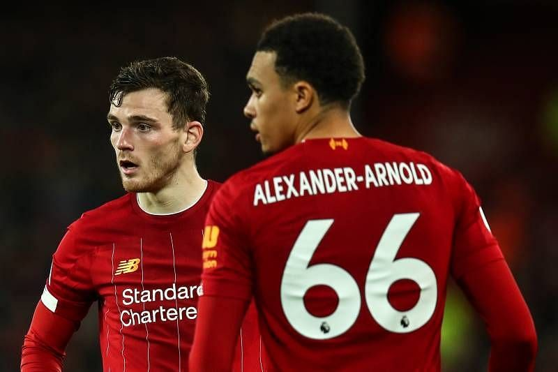 Trent Alexander-Arnold and Andrew Robertson
