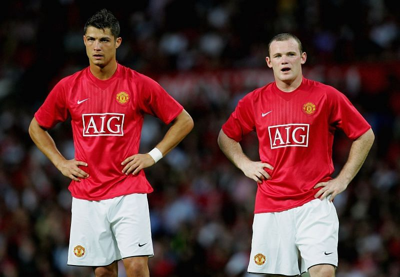 Cristiano Ronaldo and Wayne Rooney with Manchester United