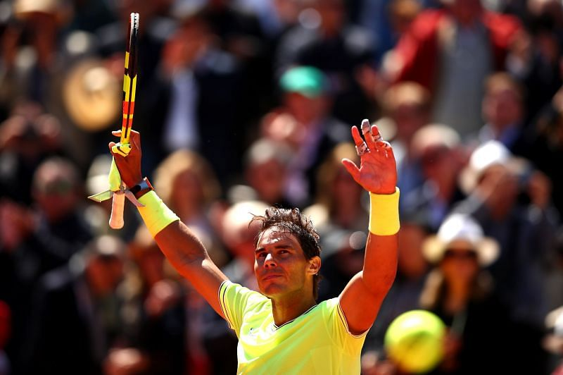 Rafael Nadal uses topspin as a huge weapon