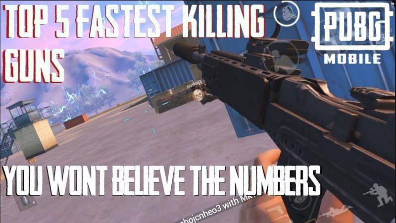 Gun that kills fast in PUBG Mobile