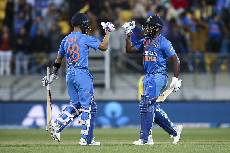 Sanju Samson (R) partnered Indian cricket team captain, Virat Kohli in the Super Over