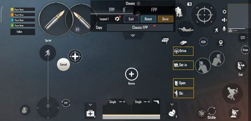 PUBG Mobile: Best 4 finger claw settings and layout