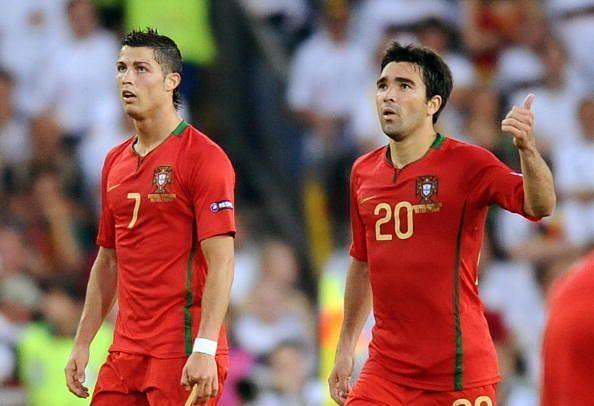 Deco and Cristiano Ronaldo represented three major tournament together for Portugal