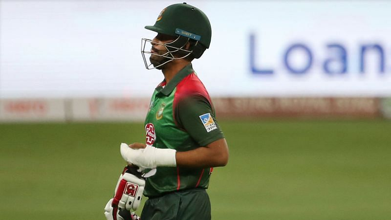 Tamim Iqbal after getting his left wrist plastered