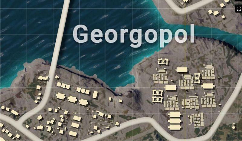 Georgopol hot drop location in PUBG Erangel map