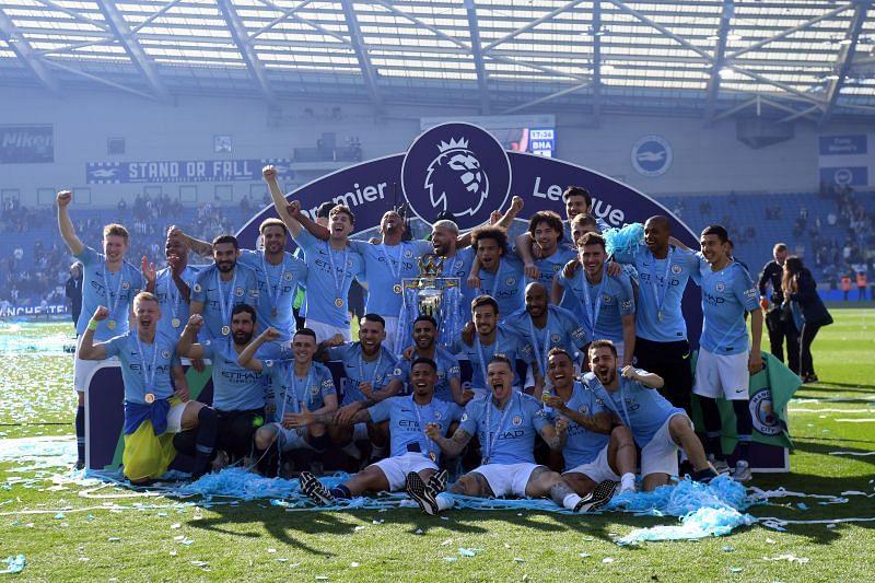 Pep Guardiola led Manchester City to a second successive Premier League title
